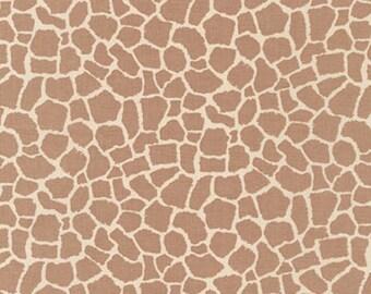 Wild Adventure Giraffe Skin Fabric - Brown - sold by the 1/2 yard
