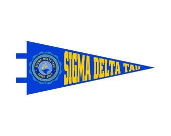 Sigma Delta Tau Pennant Decal