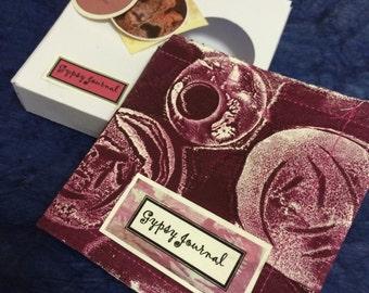 gypsy Journal, burgundy, handbound book in a box