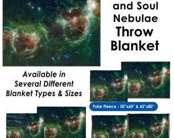 Heart and Soul Nebulae - Throw Blanket
