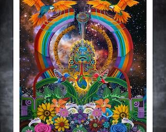 Cosmic Xochipilli PRINTS By Rah Azul