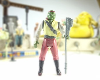 Star Wars Action Figure Barada With Weapon POTF Last 17