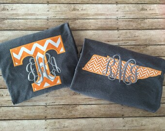 Tennessee Monogrammed T-shirt- Tennessee Pride- Vols Shirt
