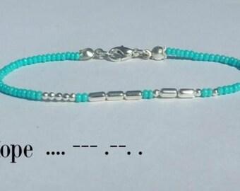 Personalised Morse Code Bracelet