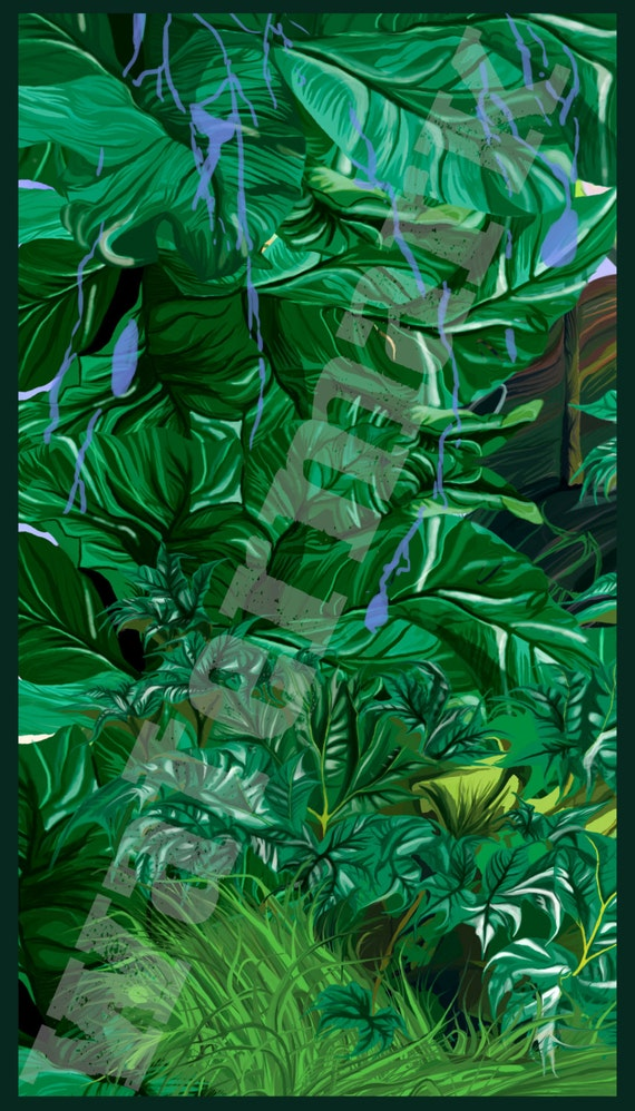 tropische pflanzen regenwald abbildung drucken von organikarts. Black Bedroom Furniture Sets. Home Design Ideas