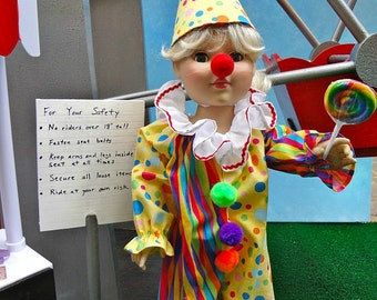 """Clown Costume - 18"""" doll clothes"""