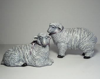 Ceramic Sheep Figurines made by Karen