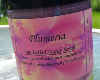 Emulsified Sugar Scrub, Plumeria