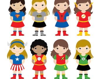 36 Kids Superhero Costumes Clipart Superheroes Kids Clipart