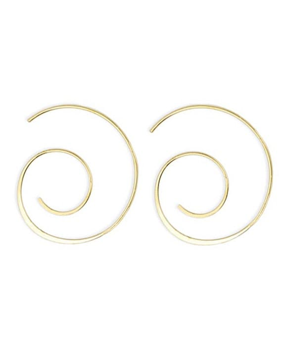 Spiral Earrings Uniquely designed Goldtone