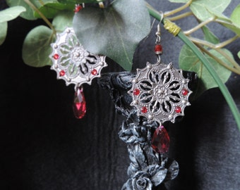 """Earrings """"Red Cathedral"""""""