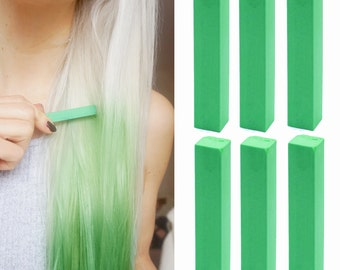 6 Best Temporary Katy Perry Green hair Dye for dark and light hair - Set of 6 | DIY Green hair Chalk for easy and simple hair coloring