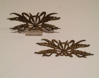 Pair of vintage French brass embellishments