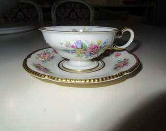 USA CASTLETON DEMITASSE Teacup and Saucer Set