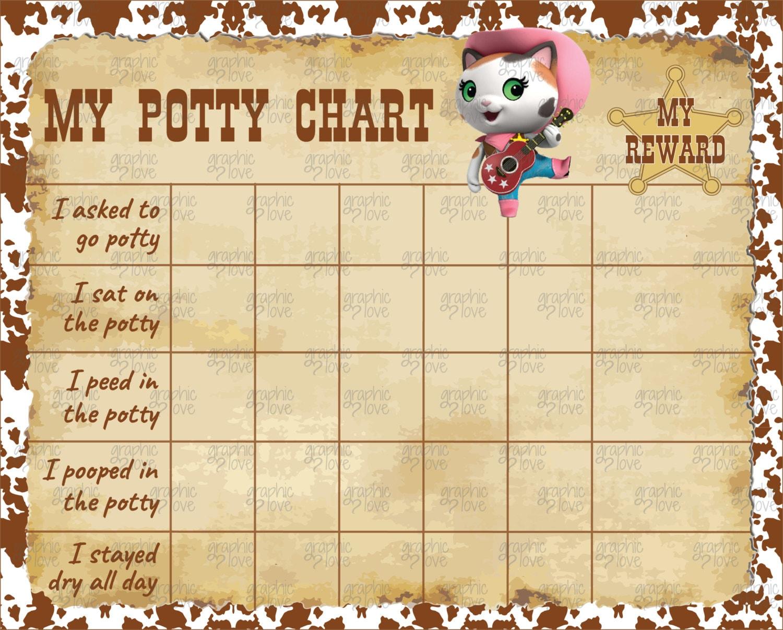 printable sheriff callie potty training chart punch cards printable sheriff callie potty training chart punch cards jpg file instant