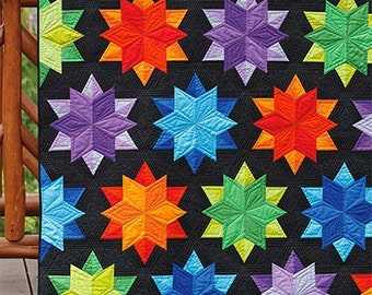 Night Sky Quilt Pattern by Julie Herman from Jaybird Quilts, quilt pattern booklet