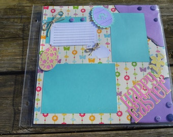 Easter Scrapbook Page- 2 pg spread
