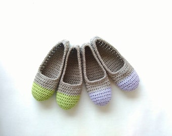 Lightweight slippers, antiperspirant, cotton crochet slippers, home slippers, crochet women gift, simply slippers