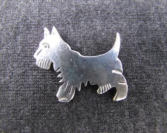 Vintage sterling silver Scottie dog pin