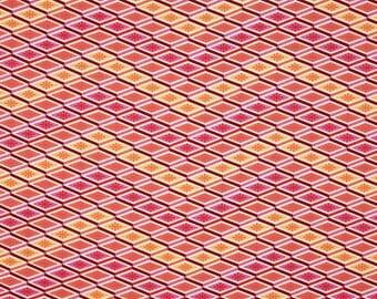 Labyrinth Peach by Tula Pink Eden Collection Geometric Print Cotton Fabric per Fat Quarter FQ