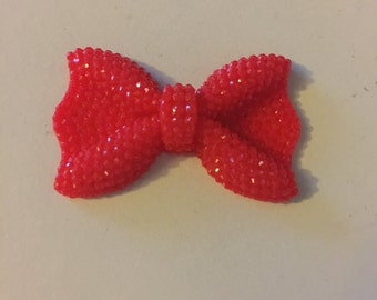 Red 40mm resin bow