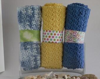 Spa Cloth 3 pack  / Wash Cloth, Dish Cloth, Baby Wash Cloth, Guest cloth