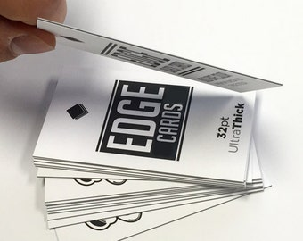 500+ 32PT Full Color EDGE Business Cards, Durable Business Cards, Thick Professional Business Cards, Call Cards,