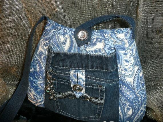 bolderreflections handmade purse re purposed jeans pockets