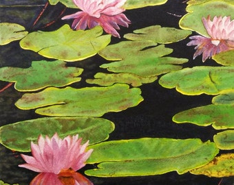 Lily Pads - Watercolor print