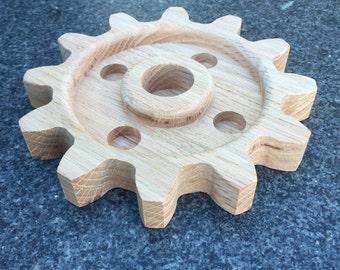 Wood Steampunk Gear Decor