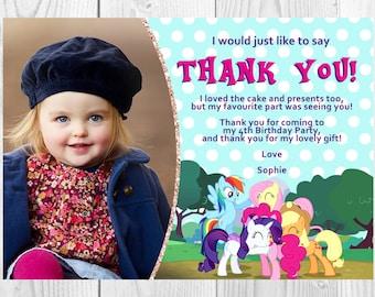 My Little Pony Photo Thank You Card, Printable, Digital