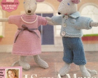 Mr & Mrs Mouse - The well dressed couple - Knitting Pattern