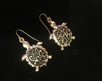 Paisley Tortoise Shell Earrings