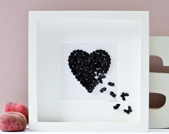 Black Butterfly Heart Picture
