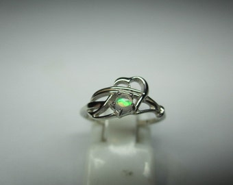 NATURAL  opal ring in sterling silver, LOOKING GOOD