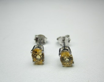 natural citrine earring in sterling  silver ,WOOW