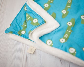 minky blanket with cars, teal minky blanket, blue minky, cars, baby boy blanket, blue and green