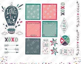 Hot Air Balloon Planner Stickers, Weekly Sticker Kit, Erin Condren Life Planner Stickers, Happy Planner Stickers