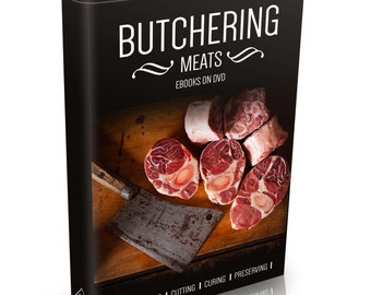 Vintage Butchery Books on DVD Slaughter Cutting Preserving Curing Butcher Beef Rare Butchering Meat Prime Cuts