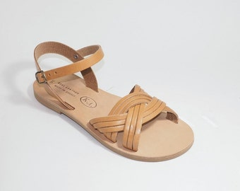 Greek Leather Sandals (37, 38, 39, 40 - Gold)