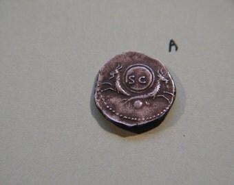 Divus Vespasian Roman  Denarius coin , 79 A.D.
