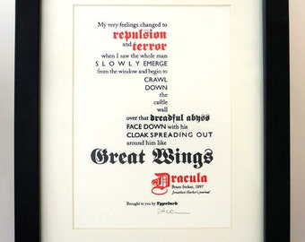 Dracula - A5 Letterpress Typographic Print