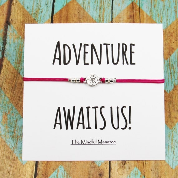Adventure Awaits Us Bracelets Compass By Themindfulmanatee