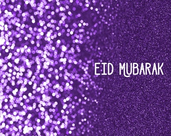 INSTANT DOWNLOAD: Eid gift, Eid decoration, Eid card, purple glitter, bling, Islamic gifts, Eid Mubarak, Eid decor, Eid party, Muslim gifts