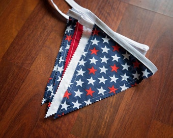 PATRIOTIC FLAG PENDANT Banner Garland,4th of July Decor,Americana Home Decor,Flag Pendants Garland Banner,Red White and Blue,Stars Flags