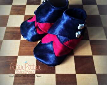 Baby Wing Tip Shoes - Baby Boy Dress Shoes - Baby Pin Stipe Shoes- Rockabilly Baby Shoes - Baby Gangster Shoes - Baby Holiday Shoes