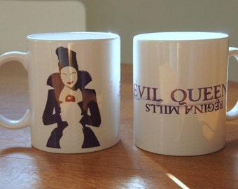 """Mug """"EVIL QUEEN"""" - OUAT / Once Upon A Time / Evil Queen / Regina Mills / Lana Parrilla"""