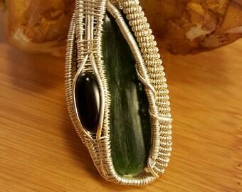 Jade and Black Onyx Wire Wrap