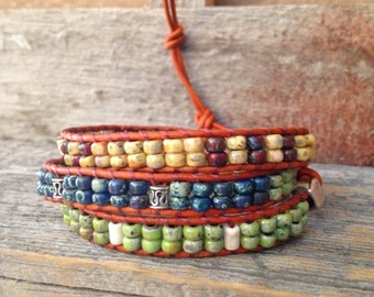Colorful Seed Bead Wrap Bracelet
