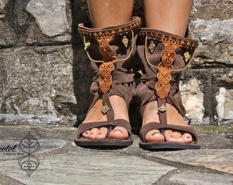 Ethnic macramè sandals